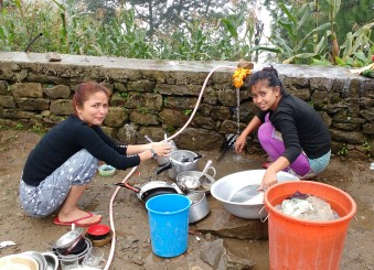 Kriti and Rupmati refusing to let me help wash up